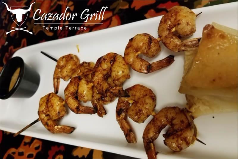cazador-grill-peruvian-restaurant-tampa-florida-Shrimps kebabs
